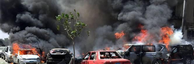 Il luogo dell'attentato contro Barakat 1