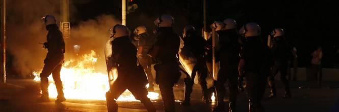 Gli scontri in piazza Syntagma 1