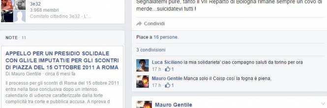 "I post su Facebook di Mauro Gentile: ""Suicidatevi"" 1"
