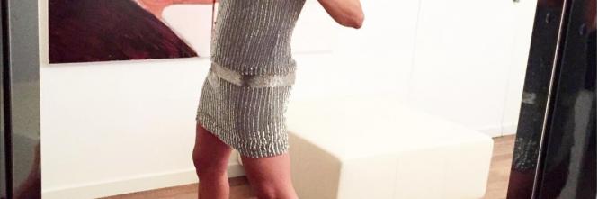 Barbara D'Urso vestita d'argento 1