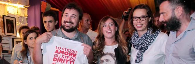 Il ministro per le Riforme Maria Elena Boschi al Pride Village di Padova