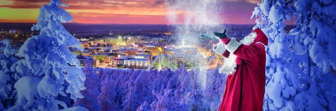 Rovaniemi Lapponia Babbo Natale.La Magia Del Natale Per La Gioia Di Grandi E Piccini
