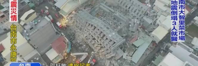 Terremoto a Taiwan, edifici crollati 1
