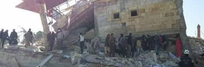 L'ospedale distrutto in Siria