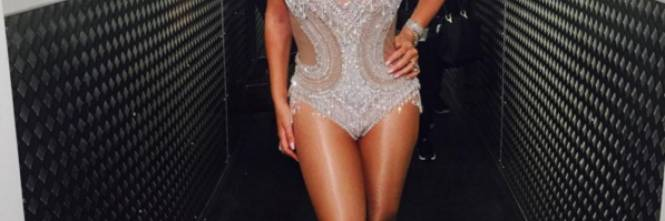 Mariah Carey nella tappa londinese del suo tour