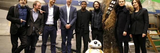 Henry e William sul set di Star Wars