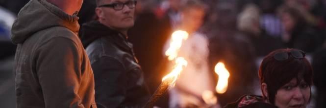 Germania, la manifestazione di Thuegida contro l'islam 1