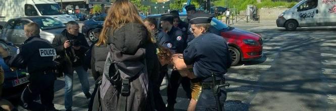 Le Femen contestano il Front National 1