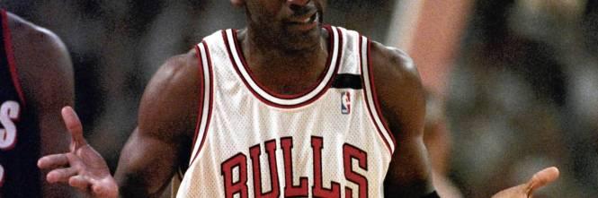 Michael Jordan con la maglia dei Chicago Bulls