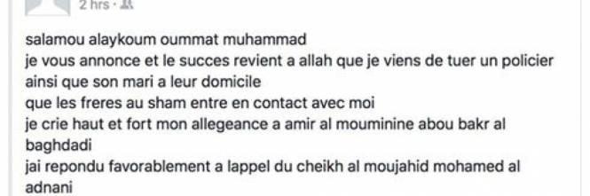 Parigi, i post del killer su Facebook 1