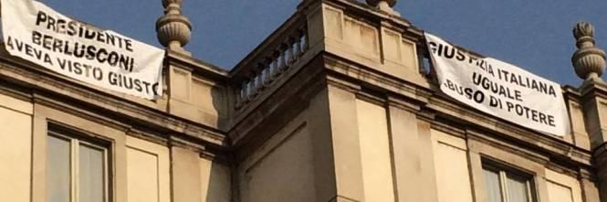 Milano, sul tetto della Scala per protesta 1