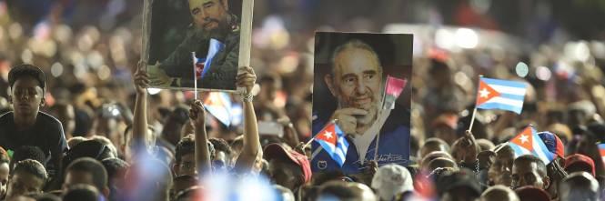 L'ultimo saluto a Fidel Castro a Santiago 18