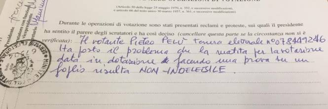 "Piero Pelù protesta al seggio: ""La matita era cancellabile"" 1"