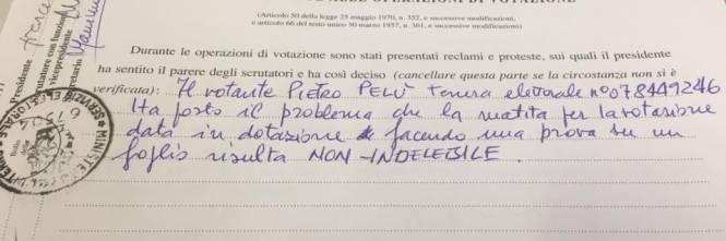 """Piero Pelù protesta al seggio: """"La matita era cancellabile"""" 1"""