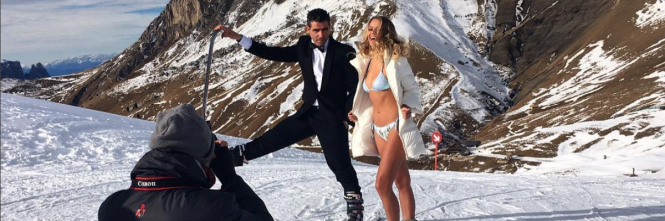 Mercedesz Henger in bikini sulla neve 1