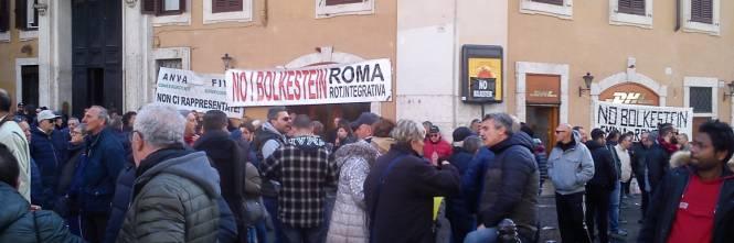 La manifestazione dei tassisti a Montecitorio 1