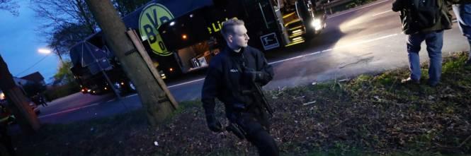Bomba carta contro il bus del Borussia Dortmund 1