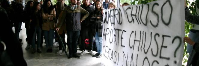 Il presidio di protesta degli studenti 1