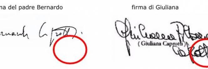 Le firme delle eredi di Caprotti 1