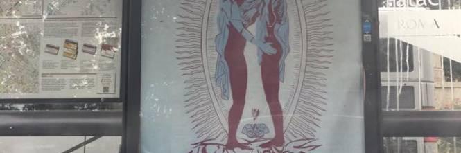 Manifesti blasfemi su Gesù e Maria a Roma 1