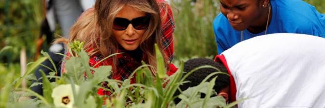 Melania Trump come Michelle: fa l'orto alla Casa Bianca 1