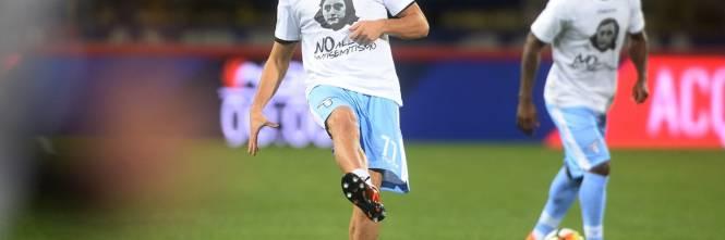 Lazio a Bologna con la maglia di Anna Frank 20