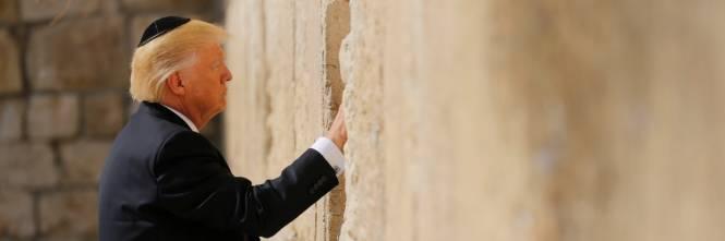 Donald Trump al Muro del Pianto