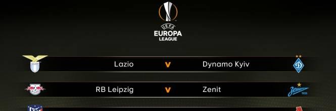 Calendario Europa League Ottavi.Europa League Lazio Fortunata Con La Dinamo Kiev Milan