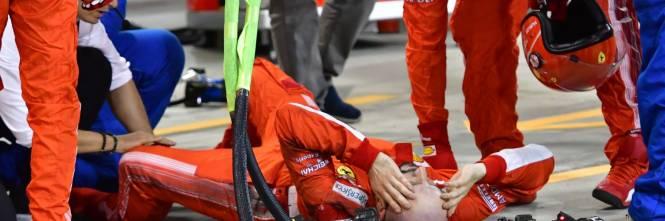 Bahrain, Raikkonen investe un meccanico: le foto dell'incidente 1