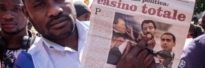 Stranieri e sinistra in corteo contro Salvini 1