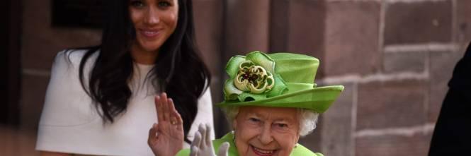 Meghan Markle con la regina nel Chershire 1