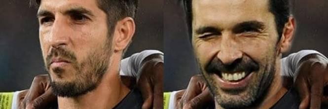 Gigi Buffon e la sua incredibile somiglianza con il portiere di Panama 1