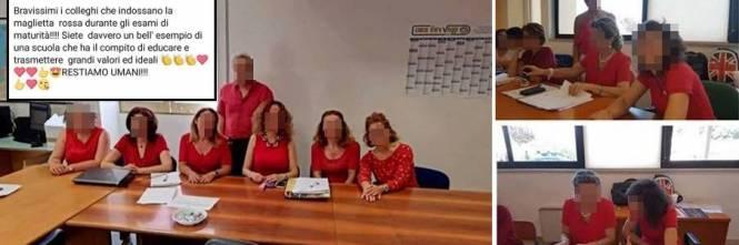 Con le magliette rosse a scuola  bufera sui prof alla maturità af2eeefc9ee