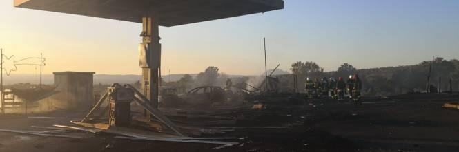 Esplosione sulla Salaria, ecco cosa resta del distributore gpl 2