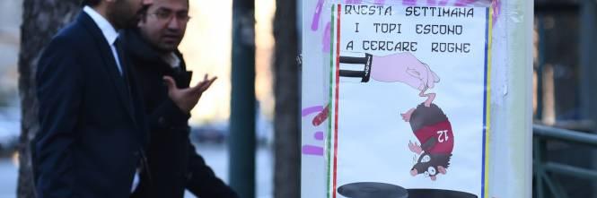 """Poster contro il Torino: """"Topi granata tornate nelle fogne"""" 1"""