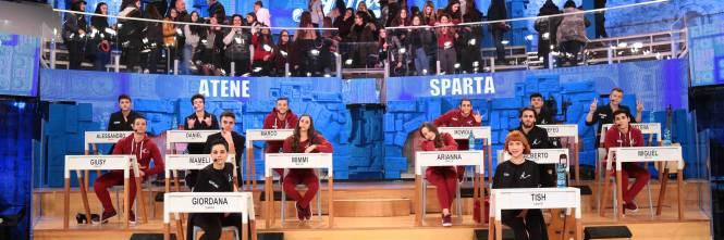"""Sparta e Atene, ecco le due squadre di """"Amici"""" 1"""