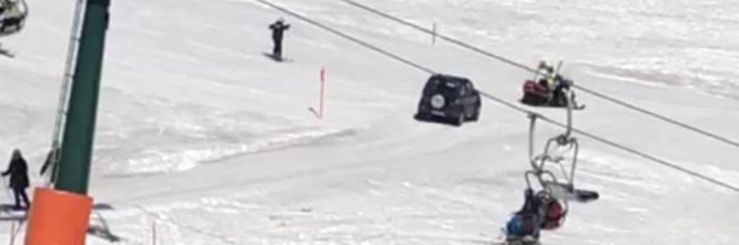 Trentino, 91enne col fuoristrada sulle piste da sci