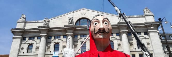 Piazza Del Calendario 3 Milano.La Casa Di Carta In Piazza Affari A Milano Ilgiornale It