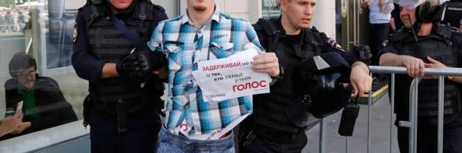 Mosca, 638 manifestanti anti Putin sono stati arrestati 1