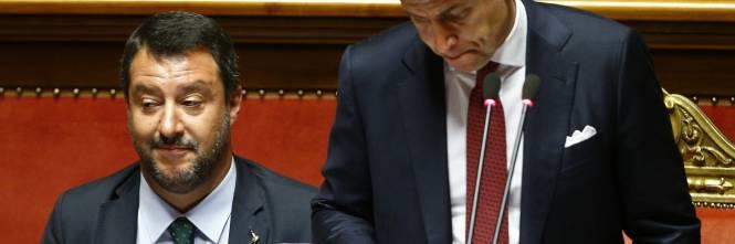 Crisi di governo, la gestualità di Matteo Salvini 1