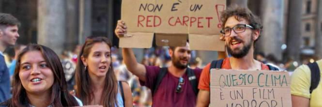 Friday for future in piazza contro le Grandi Navi a Venezia 1