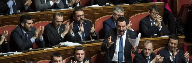 Caso Gregoretti, Salvini parla al Senato 1