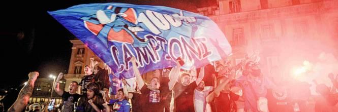 I festeggiamenti a Napoli per la Coppa Italia 1