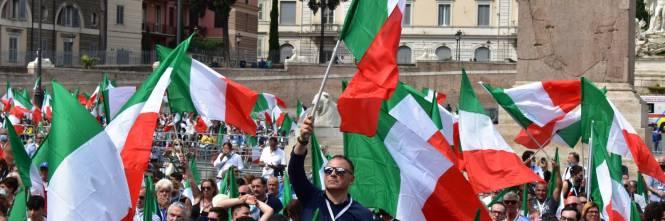 Manifestazione del centrodestra contro Conte 1