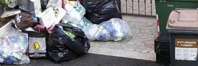 Le palazzine invase dalla spazzatura nel quartiere romano di Cinquina 1