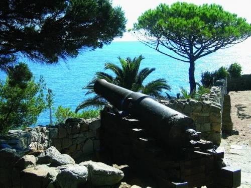Recco, il cannone in mare