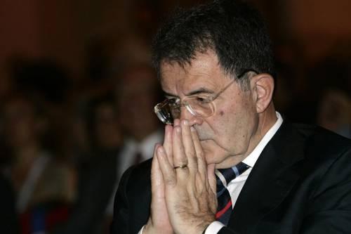 """Prodi: """"Io non getto la spugna, invenzioni"""""""
