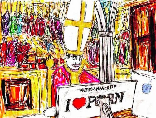 Un cartone porno sul Vaticano in mostra a Madrid