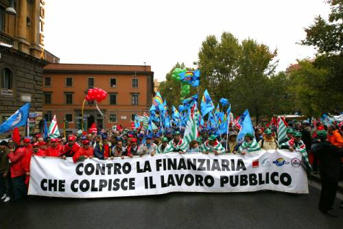 Statali in sciopero: governo Pinocchio