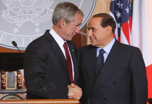 """Vertice tra il premier Berlusconi e Bush  """"Totale sintonia sul dossier Iran"""""""